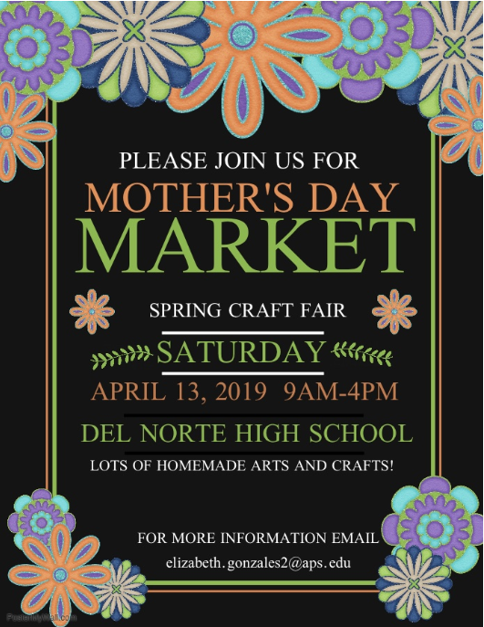 2019 Del Norte Crafts Fair Flyer