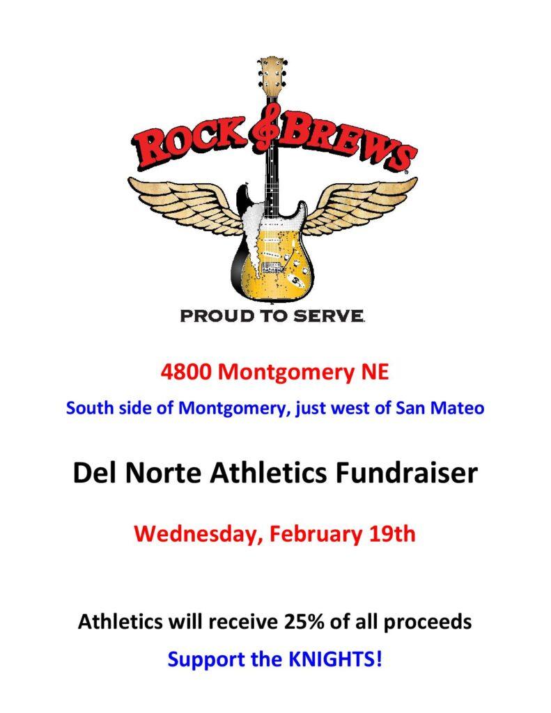 Rock & Brew Fundraiser flyer
