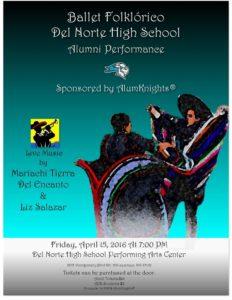AlumKnights Ballet-Folklorico Fundraiser Flyer