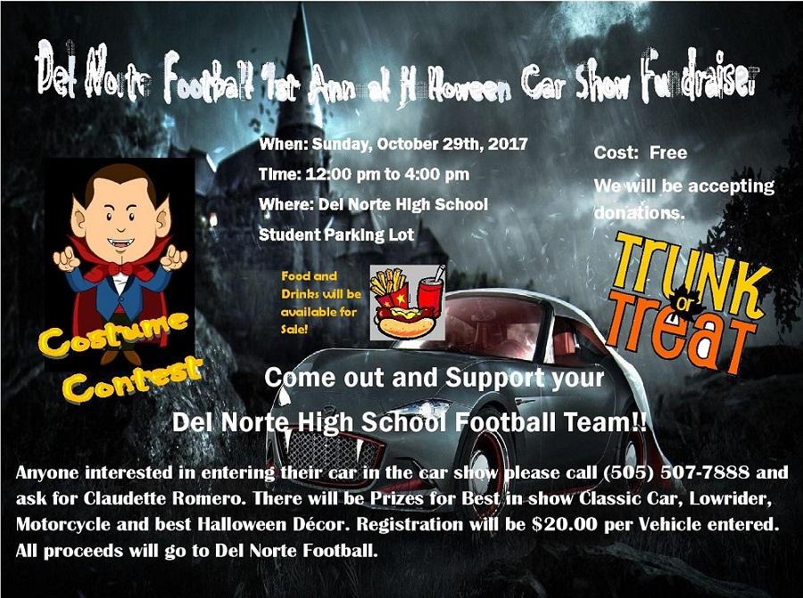 DNHS 2017 Halloween Car Show Flyer