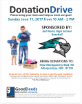 Flyer for DNHS Goodwill Fundraiser