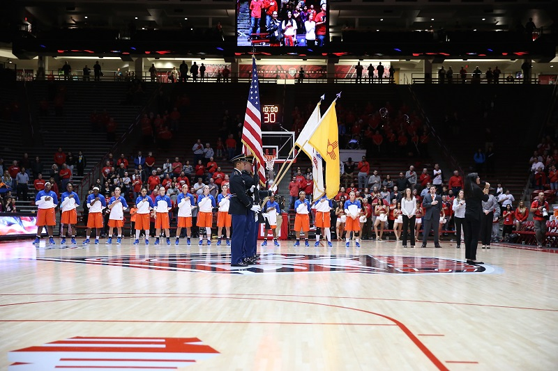 DNHS Lydia Nelson - UNM WBB - Sings National Anthem