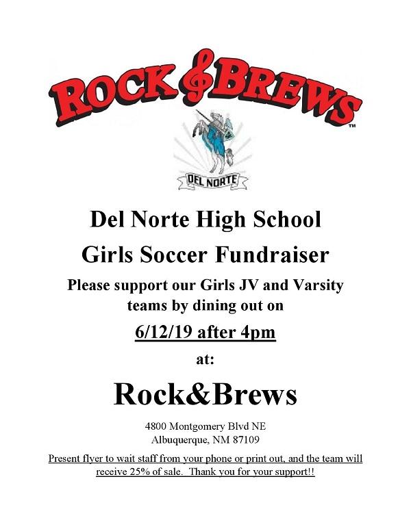 DNHS Girls SoccerRock&Brews Flyer