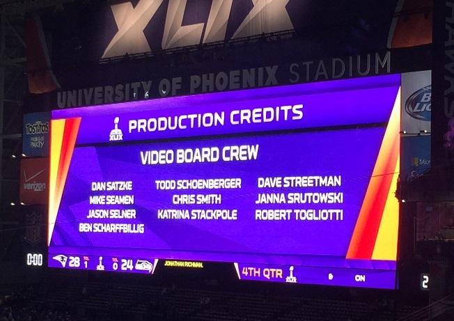 Super Bowl XLIX Scoreboard Credits