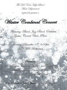 DNHS Winter Combined Concert - AlumKnights